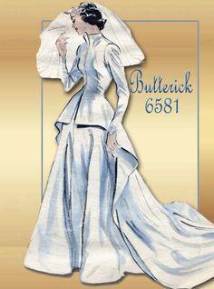1950s Sewing Pattern Butterick 6581 Wedding by FloradoraPresents, $70.00
