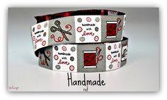 """♥♥♥  WEBBAND """"Handmade"""" rot ♥♥♥ von schuys auf DaWanda.com"""