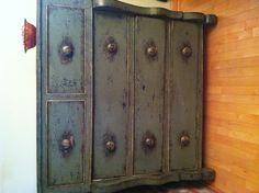 Repurposed antique dresser.