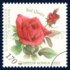 PHILAKOREA2002 World Stamp Exhibition, rose, Flower, green, red,  2001 7 18, 필라코리아2002세계우표전시회, 2001년 7월 18일, 2173, 레드 퀸, postage 우표