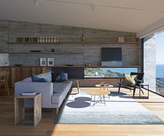This new-build in Muriwai takes advantage of the dramatic sweeping views