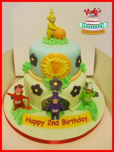 Teletubbies Cake With Personalied Sunshine teletubbies-cake