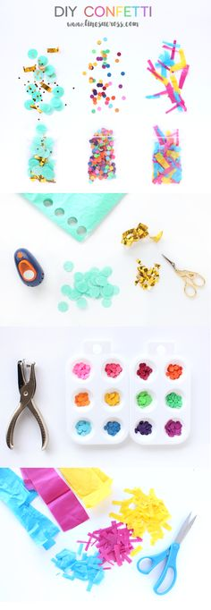 Lines Across: DIY Confetti - Make a Beautiful Mess