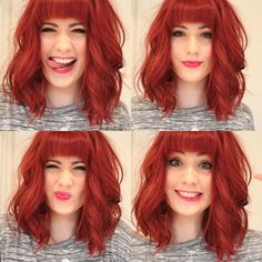 One day I plan on making my hair this gorgeous red! It's so bright and cheerful, who wouldn't love it? :)