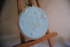 Paper Planes - Embroidered art - (Customizable) by hellopineapples on Etsy