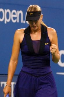 Maria Sharapova has two versions of a Nike dress – one for day matches and a darker piece for night