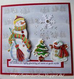 Fasters korthus: masser af julekort.