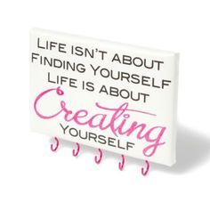 """""""Creating Yourself"""" Jewelry Holder from icing.com. #inspiration #ICINGism"""