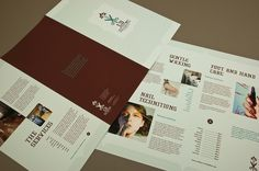 Hair and Nail Salon Brochure Template - A beauty salon could utilize this brochure to describe hair, nail, and other services offered. With adequate space for pictures and text highlighting services, this refined brochure reflects an image of a soothing, classy salon.