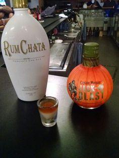 Pumpkin Pie - Captain Morgan (Jack-o-blast) and Rum Chata Yummy!