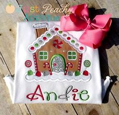 Kristi Gingerbread House Applique Design