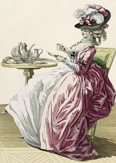 Gallerie des Modes, woman in a dress a l'anglaise, 1778