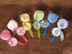 Baby Shower -- washcloth & spoon lollipops!