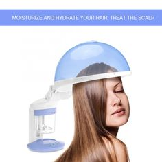 Portable 2 In 1 Hair and Facial Steamer Hood for Personal Home Use Face Steamer, Skin Nutrition, Asthma Relief, Improve Metabolism, Essential Oils For Skin, Improve Blood Circulation, Moisturize Hair, Skin Problems, Whitening