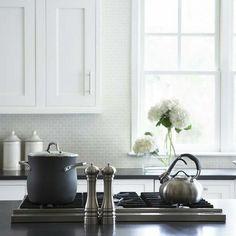 simple glass backsplash