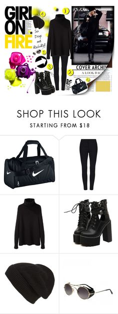 """""""Sex, Drugs and Rock'n'Roll """" by madlenbellucci ❤ liked on Polyvore featuring NIKE, La Garçonne Moderne, WithChic and Phase 3"""
