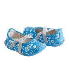 This Teal Butterfly Mairin Leather Flat is perfect! #zulilyfinds