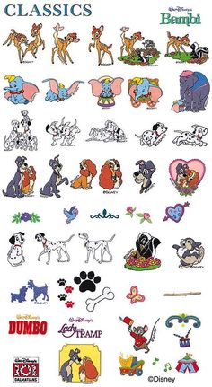 Disney Classic Machine Embroidery designs Fast by EmbroideryNation, $3.99