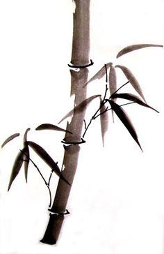 Chinese brush painting: bamboo #Chinese #culture #kids
