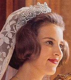 Khedive of Egypt Tiara (Greece)  Princess Anne-Marie of Denmark and Greece now Queen of Greece