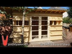 Shed build pricklysauce - YouTube