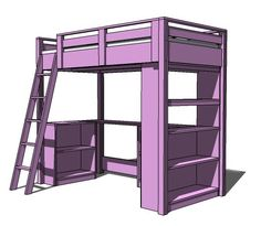 Wooden Loft Bed With Desk Plans DIY Blueprints Loft Bed With Desk Plans Ana  White Build A A Big Desk And A If You Plan On Painting The Bed Anna White  Loft ... Part 81