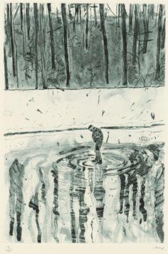 Peter Doig. 'Blotter', 1996 From the portfolio 'Ten Etchings'