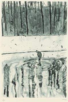 Peter Doig. 'Blotter', 1996 From the portfolio 'Ten Etchings'