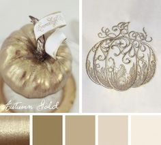 Add a touch of elegance to your seasonal embroidery designs with this Autumn Gold color scheme.