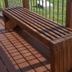 Ana White   Build a Modern Slat Top Outdoor Wood Bench   Free and Easy DIY Project and Furniture Plans