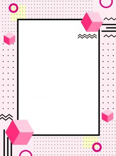 Memphis style pink wild background Geometric Wallpaper Background, Aesthetic Pastel Wallpaper, Aesthetic Backgrounds, Colorful Backgrounds, Powerpoint Background Design, Poster Background Design, Frame Template, Templates, Instagram Background