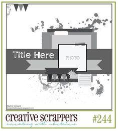 Creative Scrappers Sketch 244.  1.20.13.