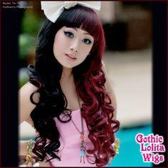 (http://www.gothiclolitawigs.com/long-curly-lolita-black-burgundy-split/)  GLW $43.50