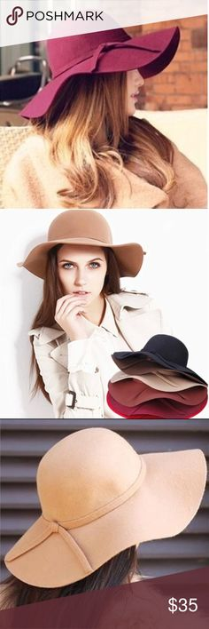 Soft Women Fedora Floppy Hat New Style Soft Women Vintage Wide Brim Wool Felt Floppy hat. These hats are so elegant the immediately turn you into a super model, we wish right.  What they do is make you look great. Accessories Hats