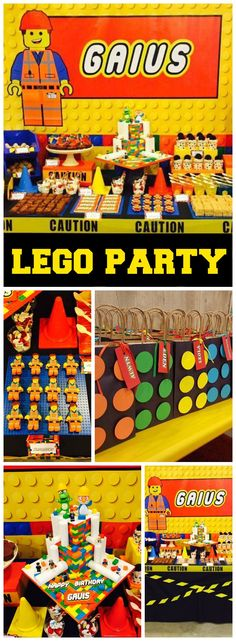 Check out this awesome Lego birthday party! See more party ideas at CatchMyParty.com!