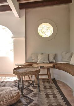 Each room is finished with a palette of dark burnt wood, brushed and oiled ash wood, stone and slate – an antithesis to traditional whitewashed fare of the Ibizan coast.