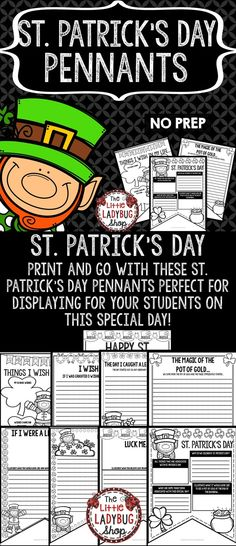 St. Patrick's Day Writing Pennants is perfect for assisting you celebrating this special day in a fun interactive way! This perfect for you to display! Just Print, GO and DISPLAY! Students will LOVE creating and sharing these Pennants.