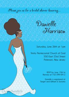 Dynamite Diva Bride Bridal Shower Invitation - African American - Natural Hair