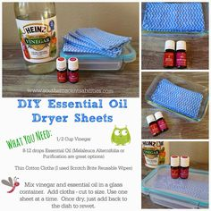 DIY Drier Sheets
