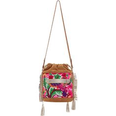 Marie Martens Embroidered Ibiza Shoulder Bag (298 CHF) ❤ liked on Polyvore