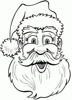 Cartoon Pencil Drawing, Cartoon Drawings, Drawing Sketches, Pencil Drawings, Art Drawings, Sketching, Easy Christmas Drawings, Santa Claus Drawing, Santa Cartoon