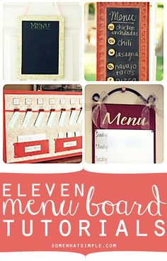 I love the idea of a menu board, and here's 11 ideas to choose from!