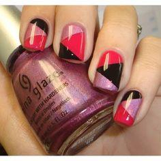 Cute nail design ideas... Geometric clean classy sophisticated