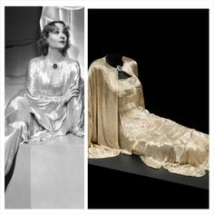 """Costume designed by Travis Banton for Carole Lombard in """"My Man Godfrey"""" (1936)"""