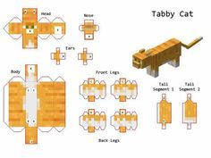 Papercraft Designs with tags 'official, mob, animal' Gato Do Minecraft, Minecraft Mobs, Minecraft Drawings, Minecraft Crafts, Minecraft Party, Minecraft Houses, Minecraft Stuff, Minecraft Templates, Minecraft Designs
