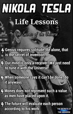 Scientist q - Nikola Tesla - Quotes Wise Quotes, Quotable Quotes, Great Quotes, Quotes To Live By, Motivational Quotes, Inspirational Quotes, Lyric Quotes, Movie Quotes, Nikola Tesla Quotes