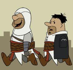 Flintstones vs. Assassin's Creed  Check out more funny pics at killthehydra.com