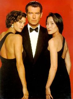 "*m. Teri Hatcher, Pierce Brosnan & Michelle Yeoh in ""James Bond: Tomorrow Never Dies"" (1997)"