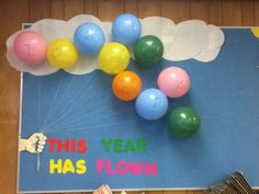 Count down the last days of school. Piece of paper in each balloon with a fun activity we will do each day leading to the end. Examples: chew gum in class, work on floor, desk dump day, read outside, board game day, movie day, show and tell day.