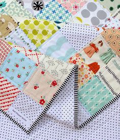 Love this binding and backing! And quilting. Plain and simple, that's my style!